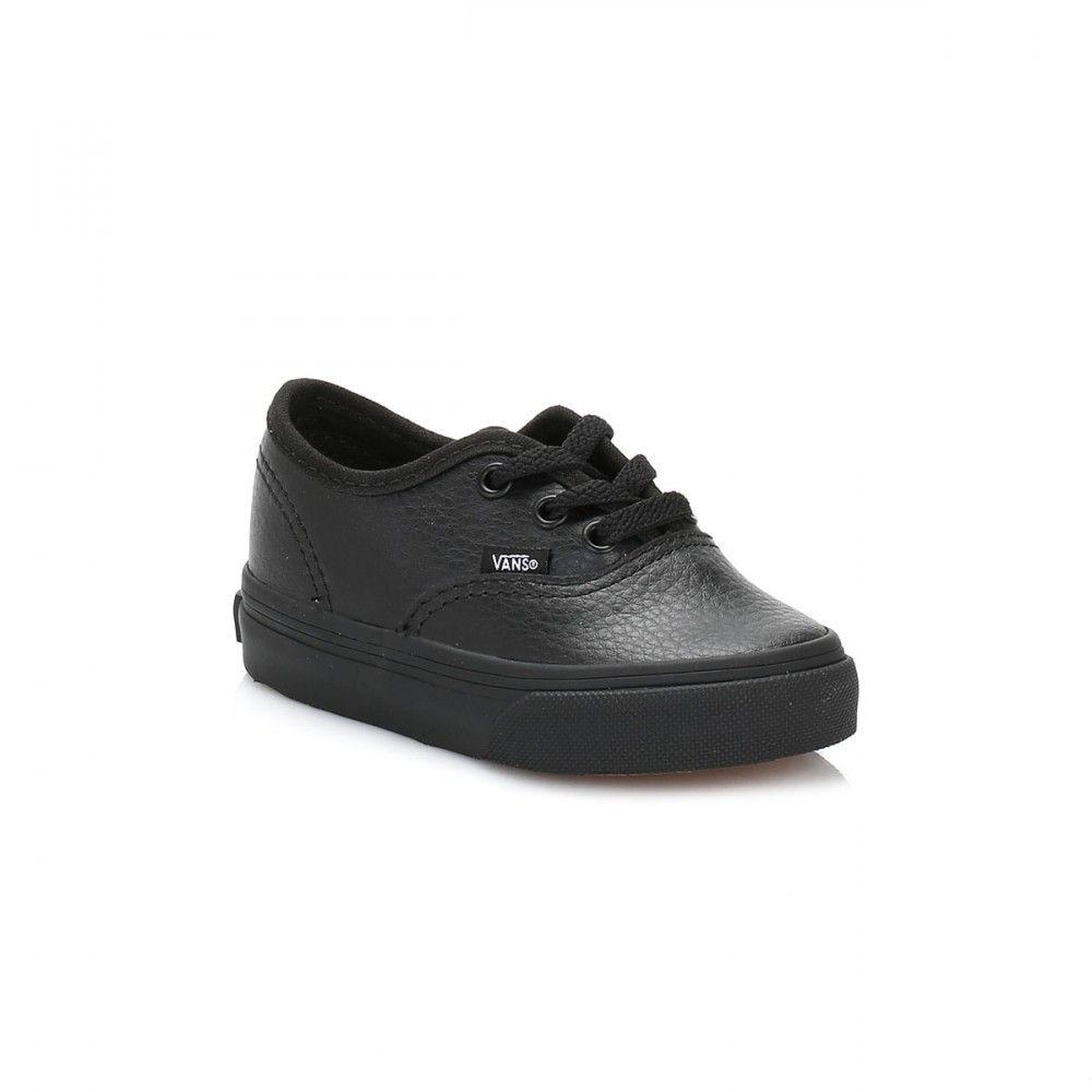 38fffde55c Vans Infant Black Authentic Leather Trainers
