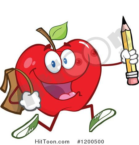 Apple happy. Cartoon of a red