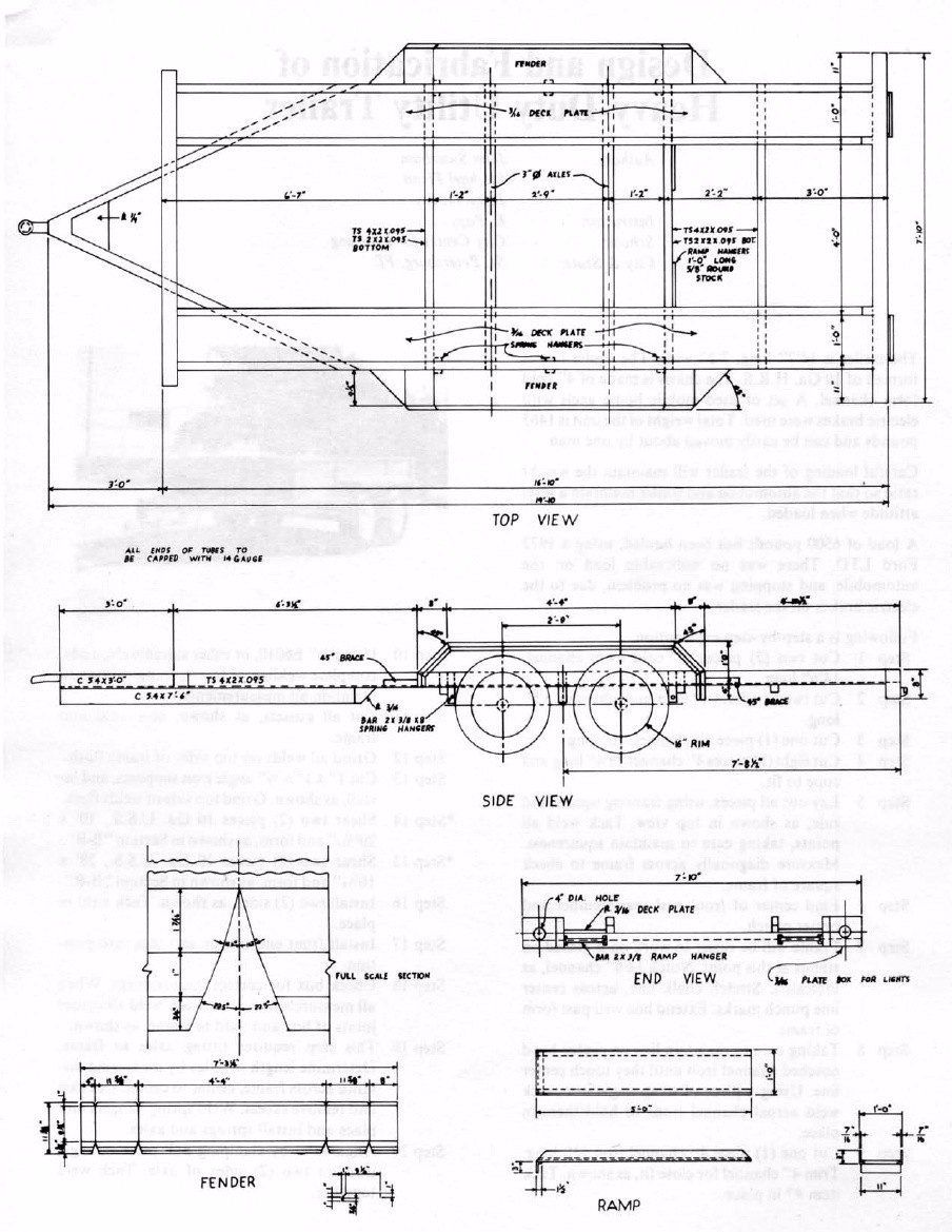 medium resolution of planos para fabricar trailer acoplados o batan