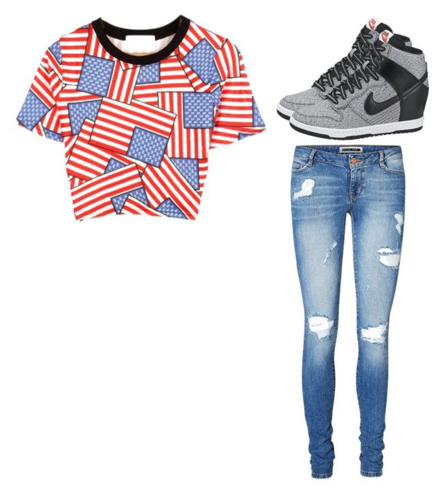 """""""Taking a Walk"""" by musicheartbeatjj ❤ liked on Polyvore featuring Vero Moda, Chicnova Fashion and NIKE"""