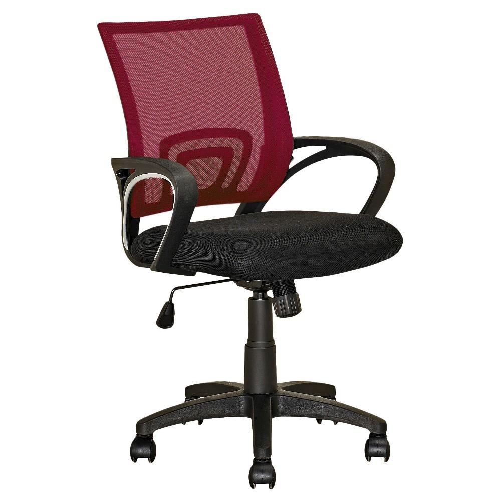 Strange Workspace Mesh Back Office Chair Maroon Red Corliving In Ibusinesslaw Wood Chair Design Ideas Ibusinesslaworg