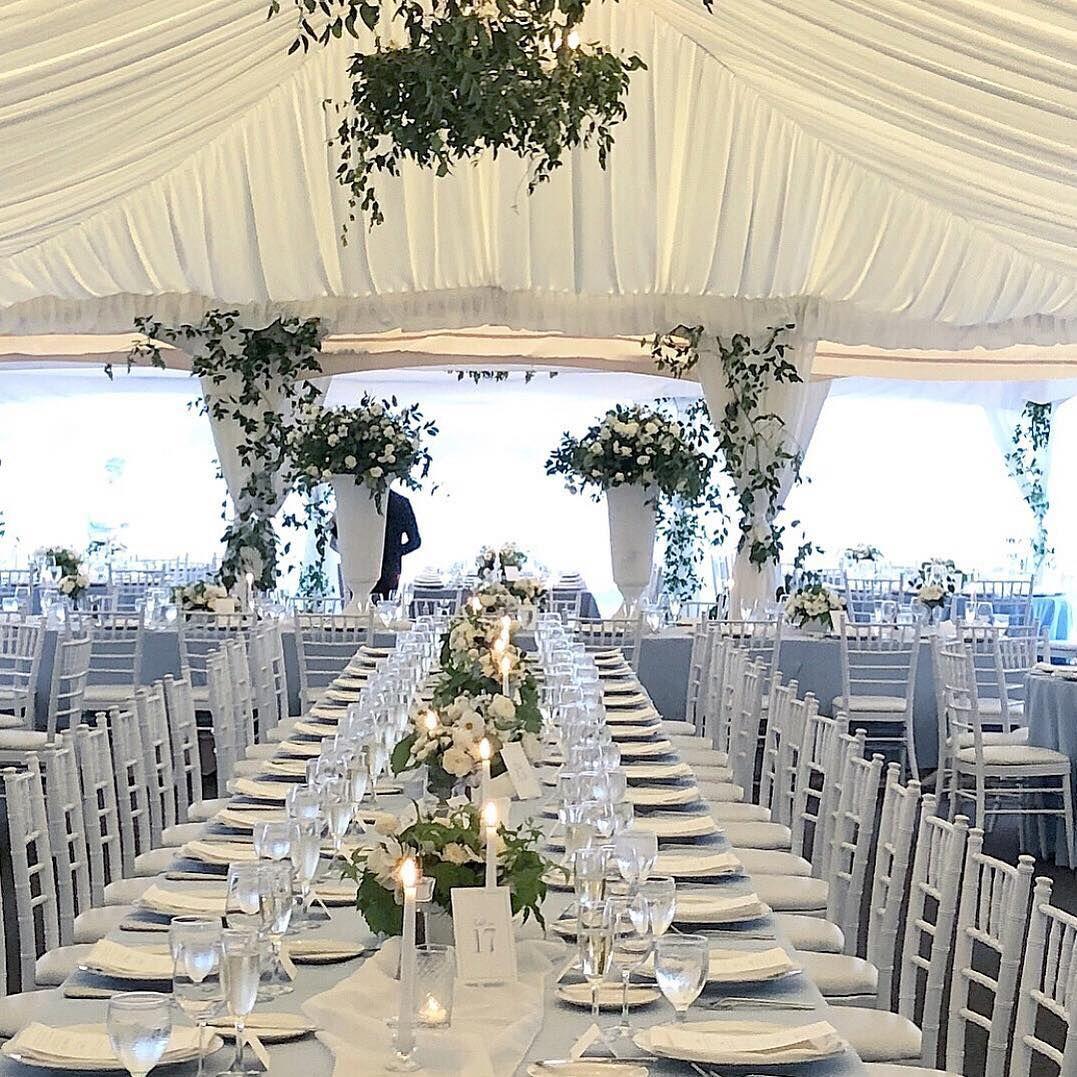 Blue themed wedding decor  Blue themed wedding reception ideas valleyandco on Instagram