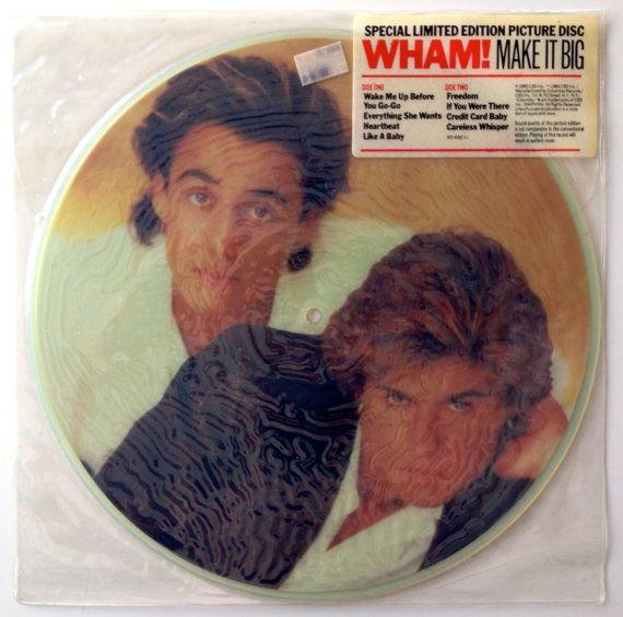 Wham Make It Big Sealed Picture Disc Lp Vinyl Record Album Columbia 9c9 40062 1985 Orig Vinyl Record Album Vintage Vinyl Records Vinyl Records
