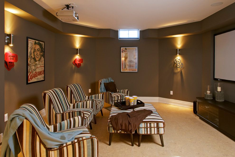 Media Room Paint Colors Home Theater Contemporary With Accessories