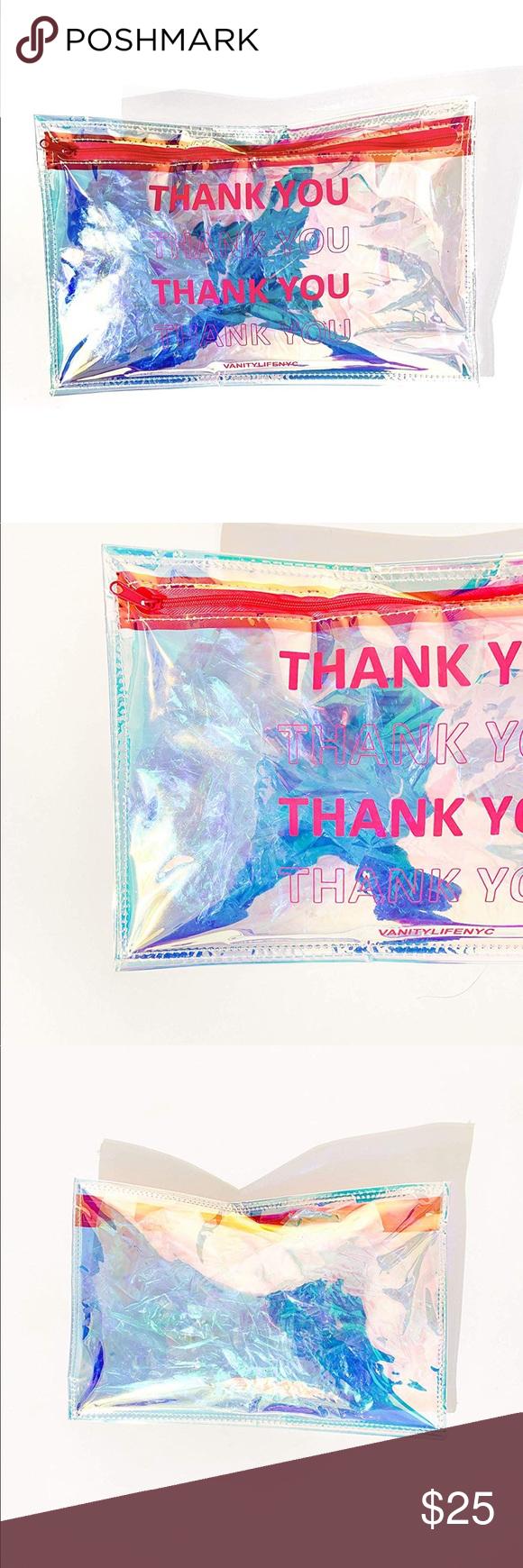 Holographic Iridescent Cosmetic Makeup bag Makeup bag