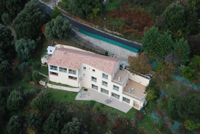 Vue aérienne du Gîte à vendre à Vico en Corse du Sud