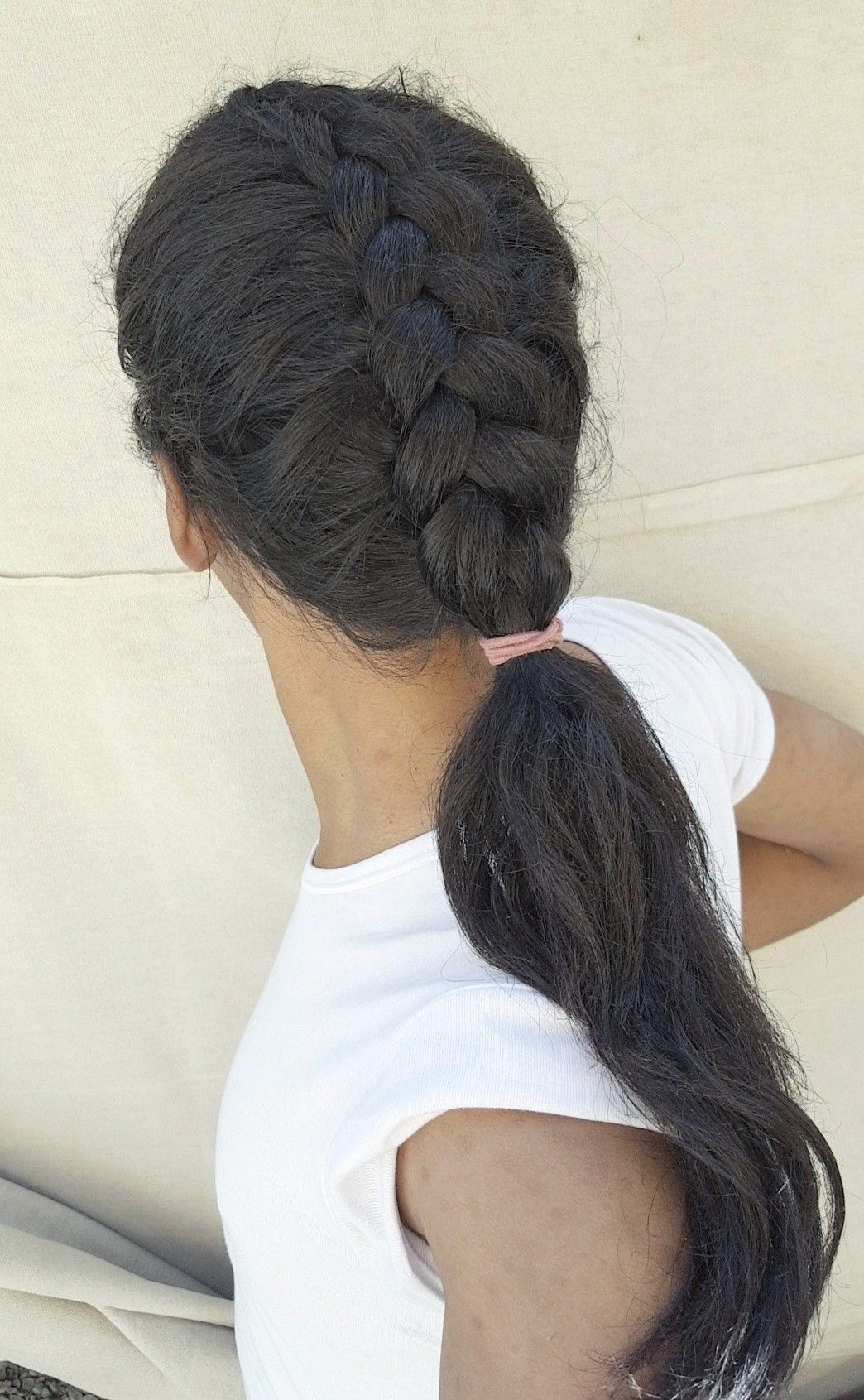 Half Braids With Low Ponytail Ponytail Hairstyle Braided Hair Hair Style Stylish Longhair Nice Hairstyl Hair Styles Cool Hairstyles Braided Hairstyles