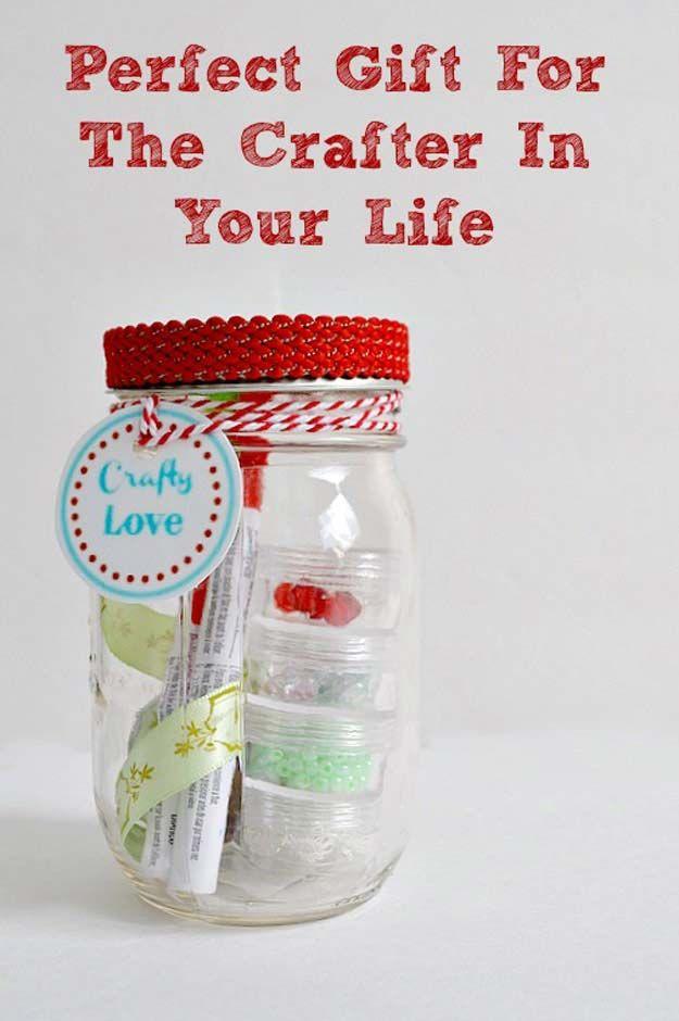 47 cute mason jar gifts for teens teen diy dollar store for Homemade craft gift ideas