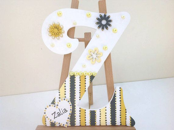 Childrens Decorative Wooden Wall Letters Personalised Custom Personalized Large
