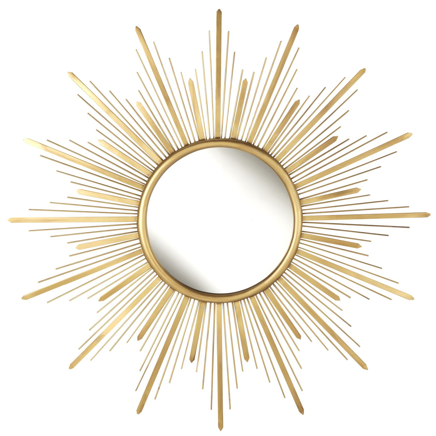 Gold Starburst Metal Wall Mirror by iNSPIRE Q