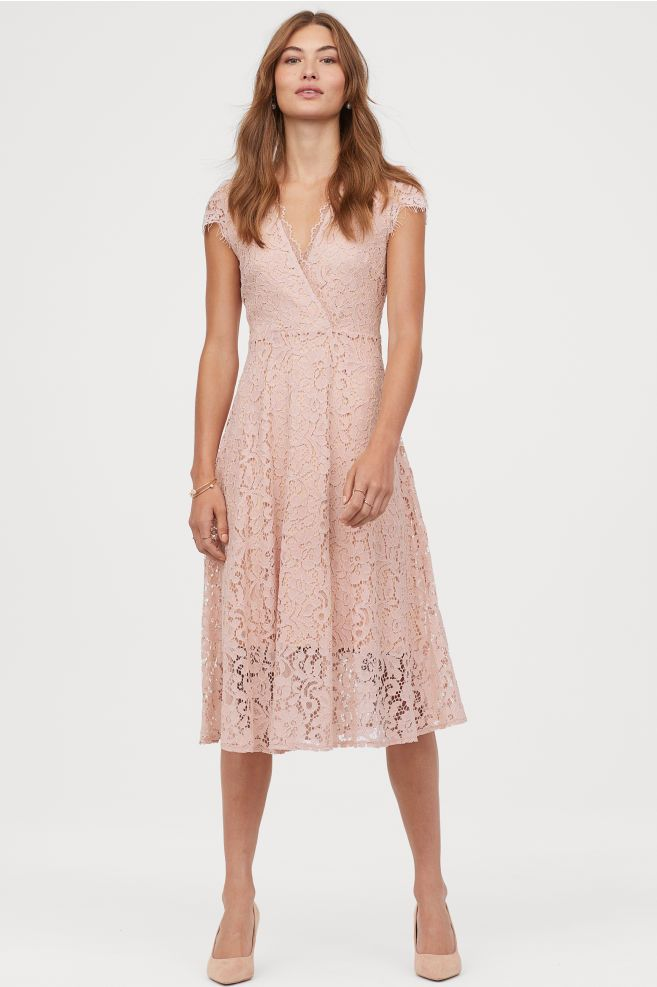 H&M Lace V-neck Dress – Orange