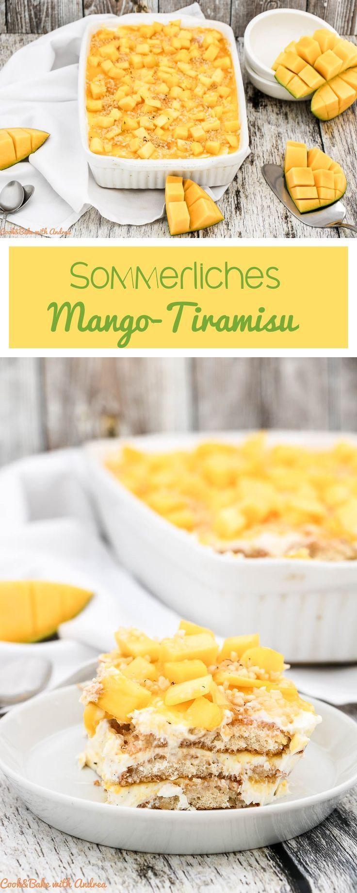 Sommerliches Mango-Tiramisu mit Zitrone