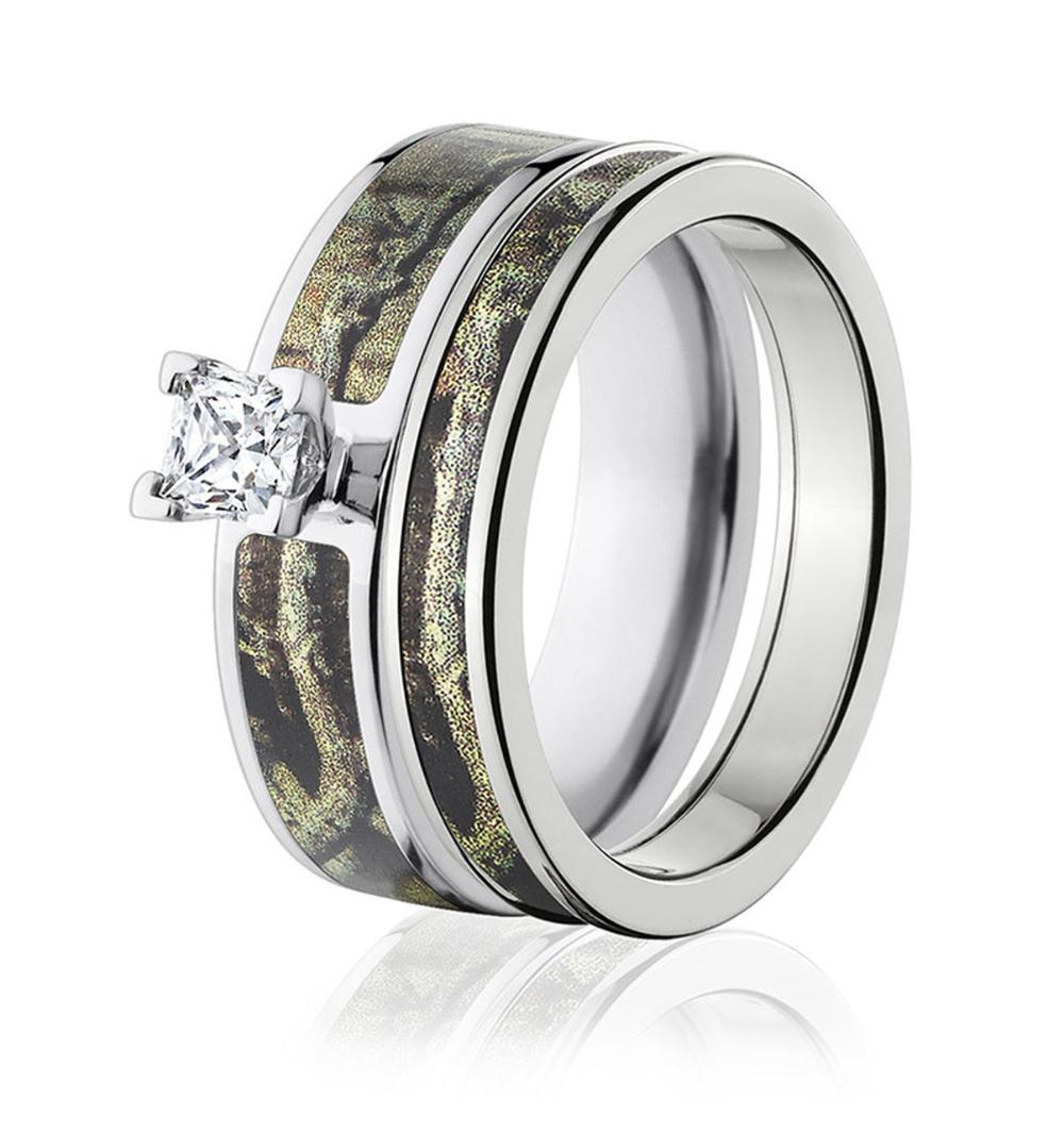 Mossy Oak Breakup Infinity Camo Ring Set for Her in 2020