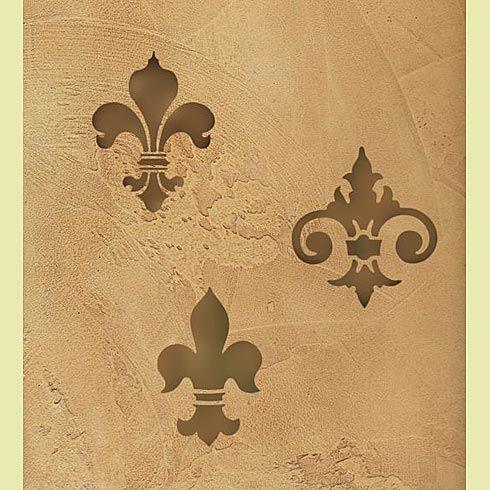 fleur de lis stencil, 5in (pillows)