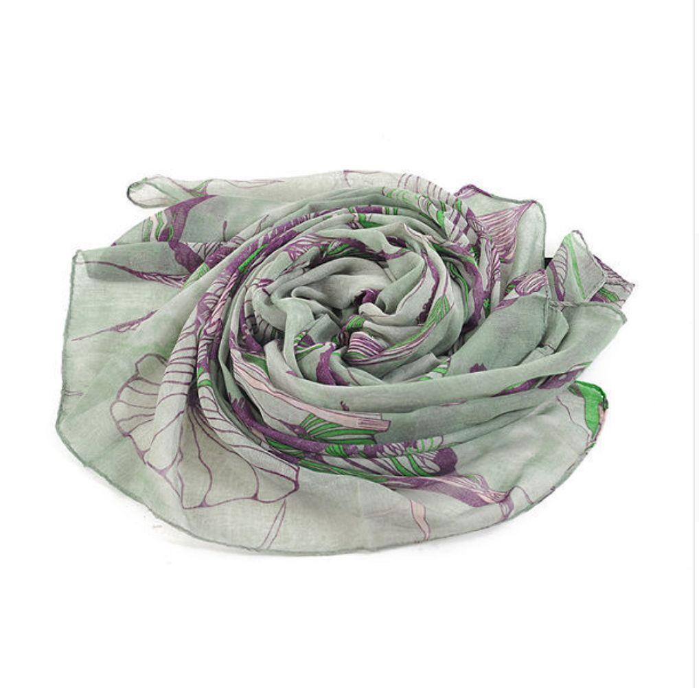 Floral Designer Scarf