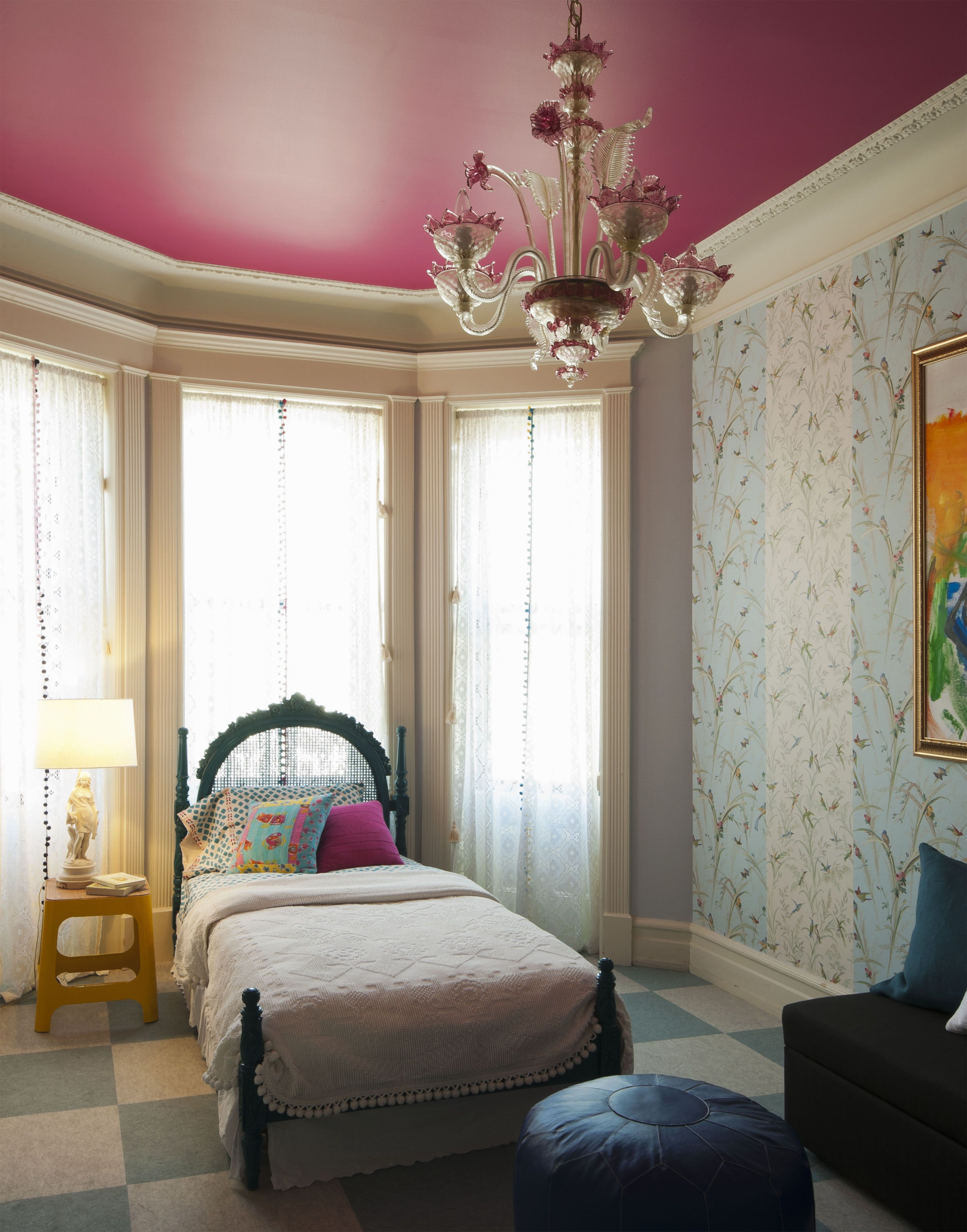[Ceiling Color] This Stunning Little Girls Room Features A Teal