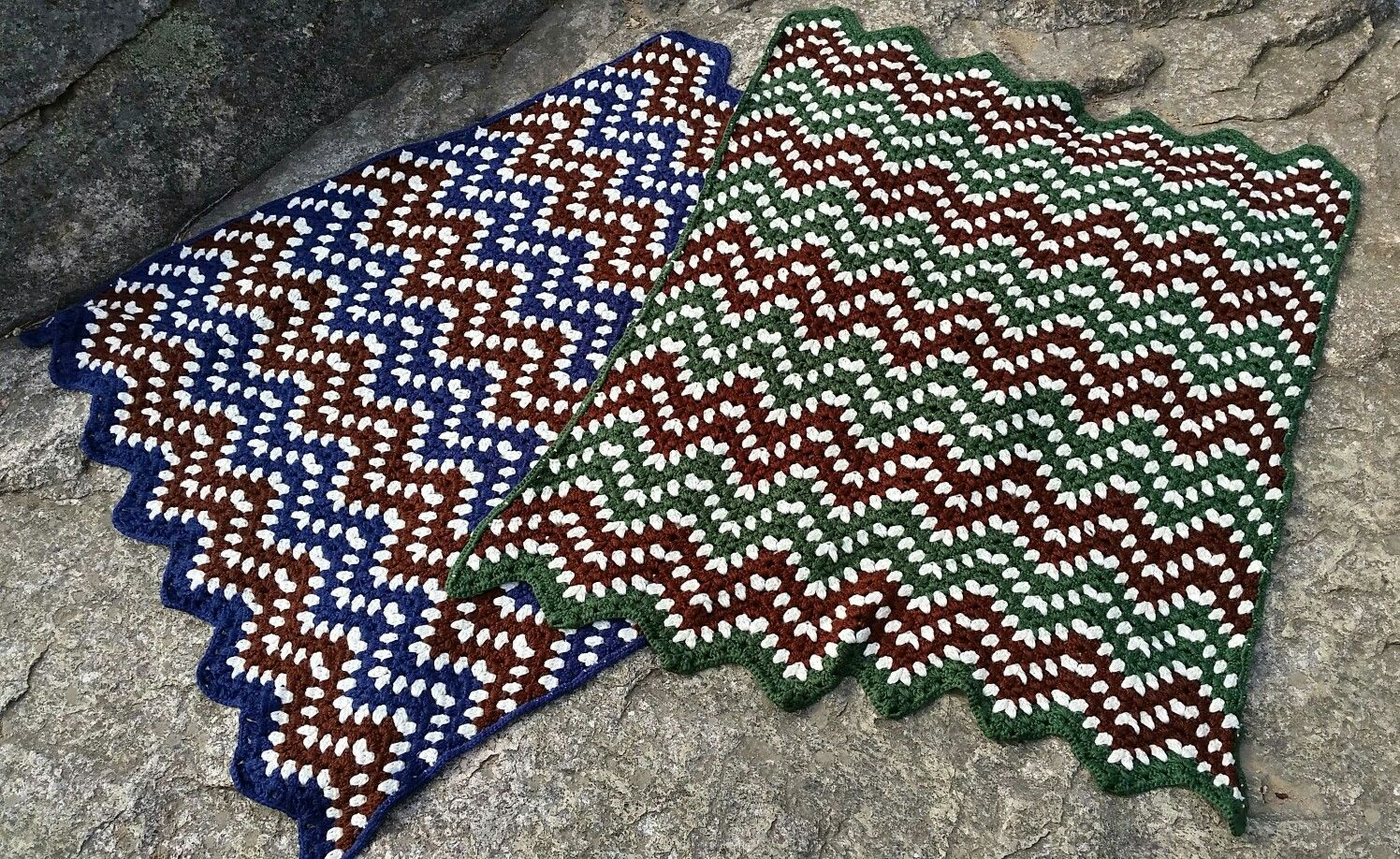 Ripple Waves Crochet Blanket pattern from Yarnspirations.com made by ...