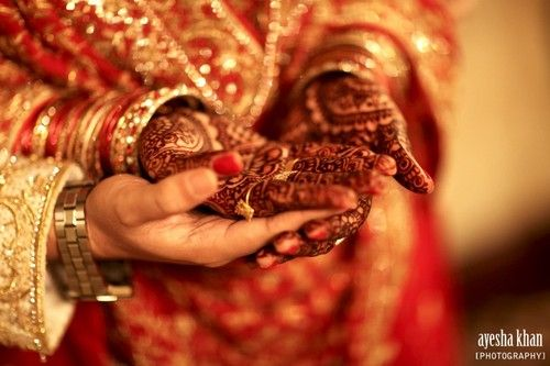 Mehndi Bride And Groom : The bride and groom sana shahzeb holding hands at rukhsati