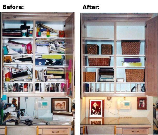 Kitchen Desk Before And After By Www.organizebydesign.com