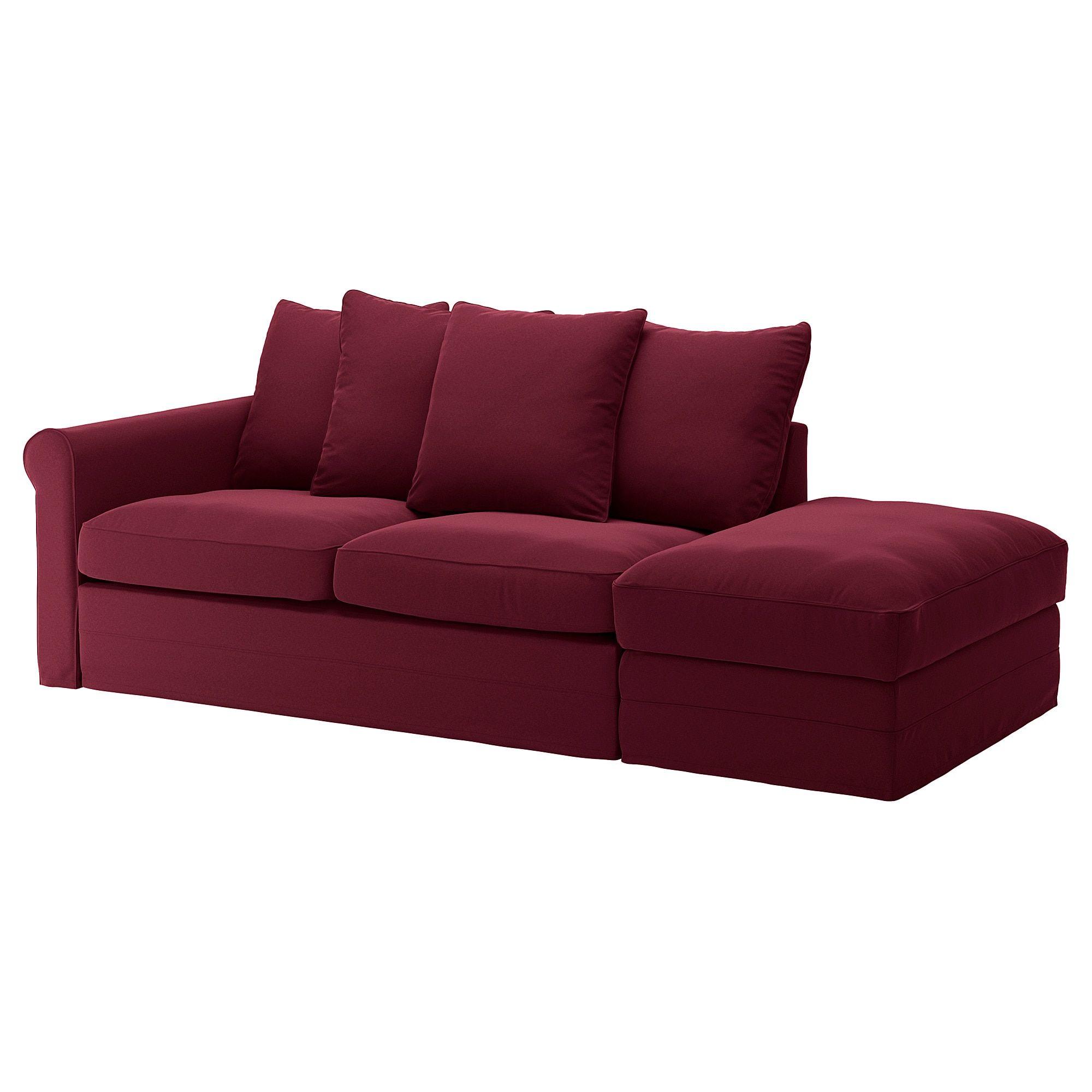 Divano Velluto Blu Ikea ikea - grÖnlid sofabed with open end, ljungen dark red