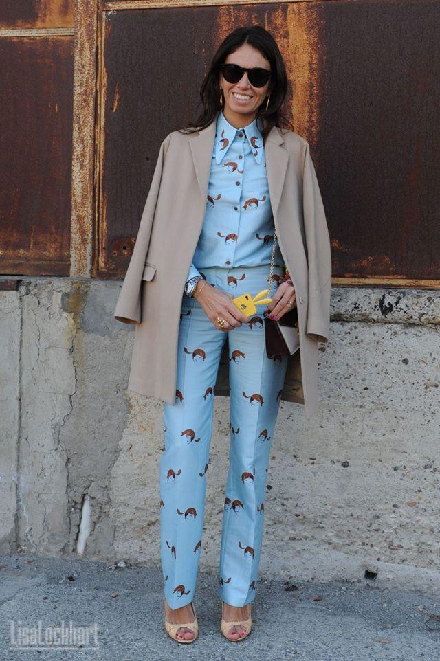 Viviana Volpicella wearing pajamas