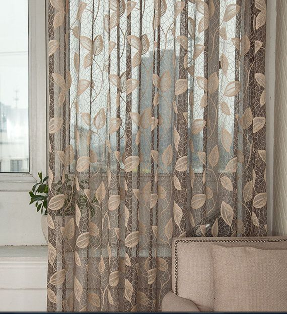 European Embroidery Net Curtains Pelmets Voile Tulle Window