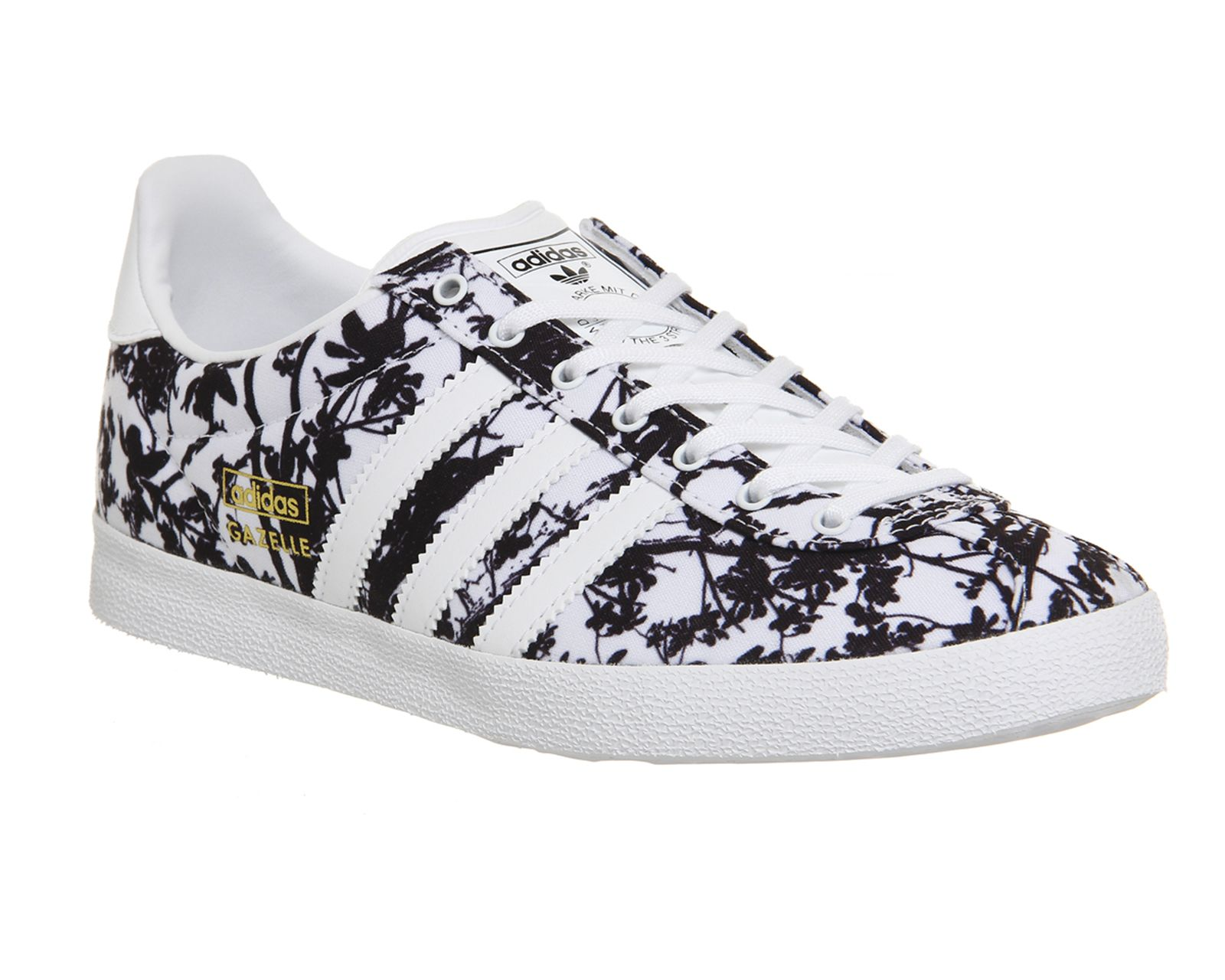 Buy White Black Floral Print Adidas Gazelle Og W from OFFICE.co.uk.