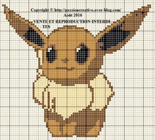 Pokemon Evoli Pixel Art
