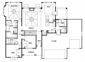 Exemple de plan d'étage simplifiée