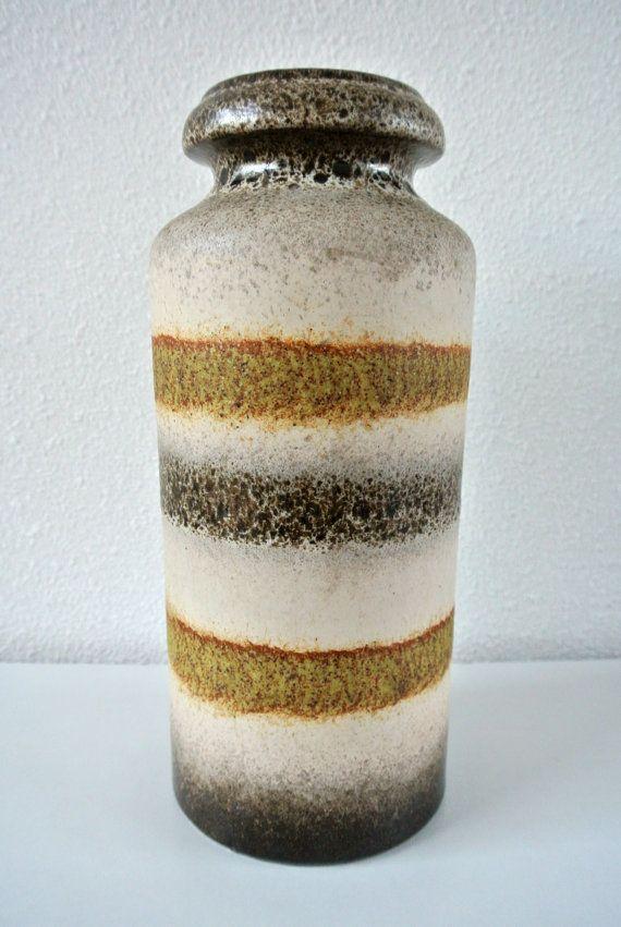 Vintage West deutschen Vase Bay Keramik West Deutschland Keramik Scheurich Fat Lava