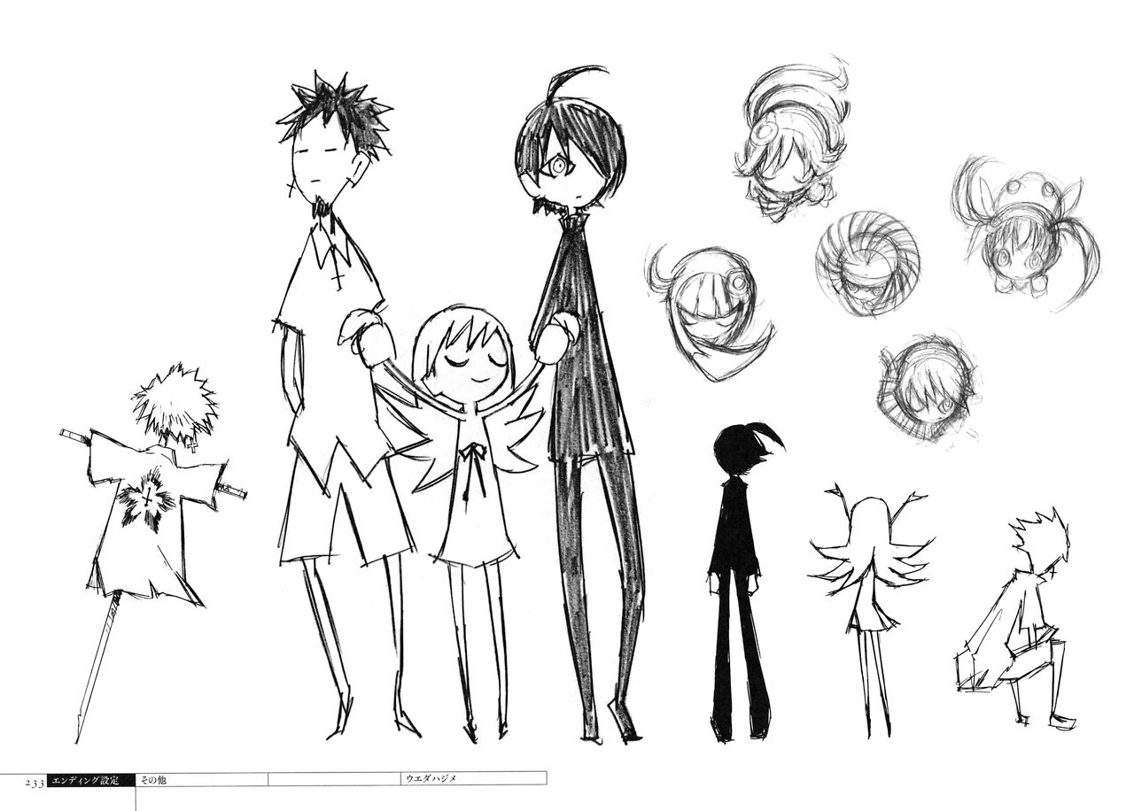 Character Design Work : Hajime ueda s ウエダ ハジメ bakemonogatari character designs