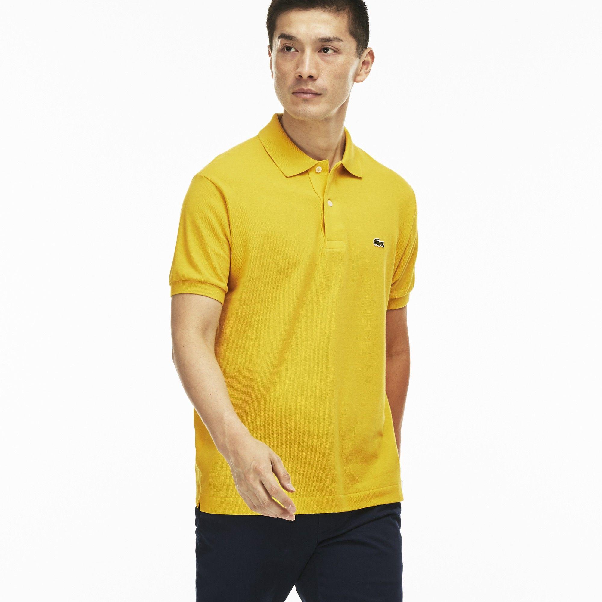 Lacoste Men S Classic Pique L 12 12 Polo Shirt Calcutta Yellow