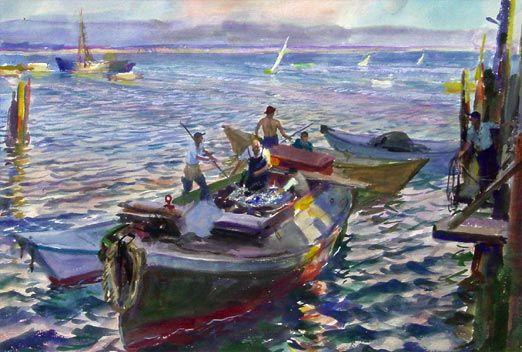 """Provincetown,"" John Whorf, watercolor on paper, Pierce Galleries."