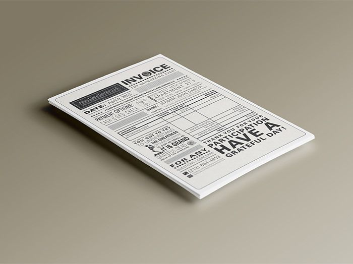 50 Creative Invoice Designs for Your Inspiration Inspiration - invoice designs