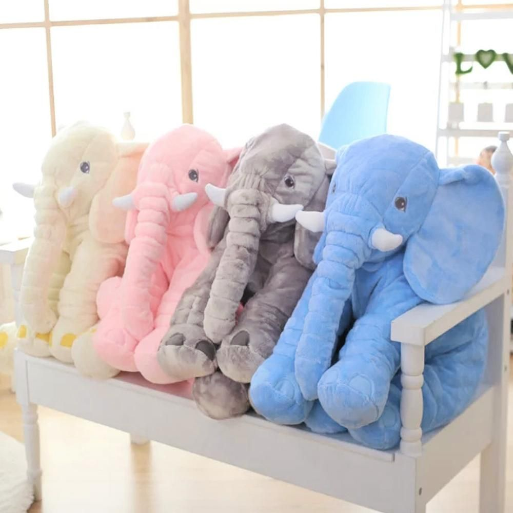 60cm Baby Elephant Lumbar Pillow Long Nose Doll Plush Stuff Soft Toys  | eBay