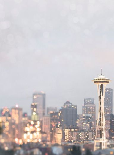seattle photography city skyline at dusk space needle urban home decor large wall art - Seattle Home Decor