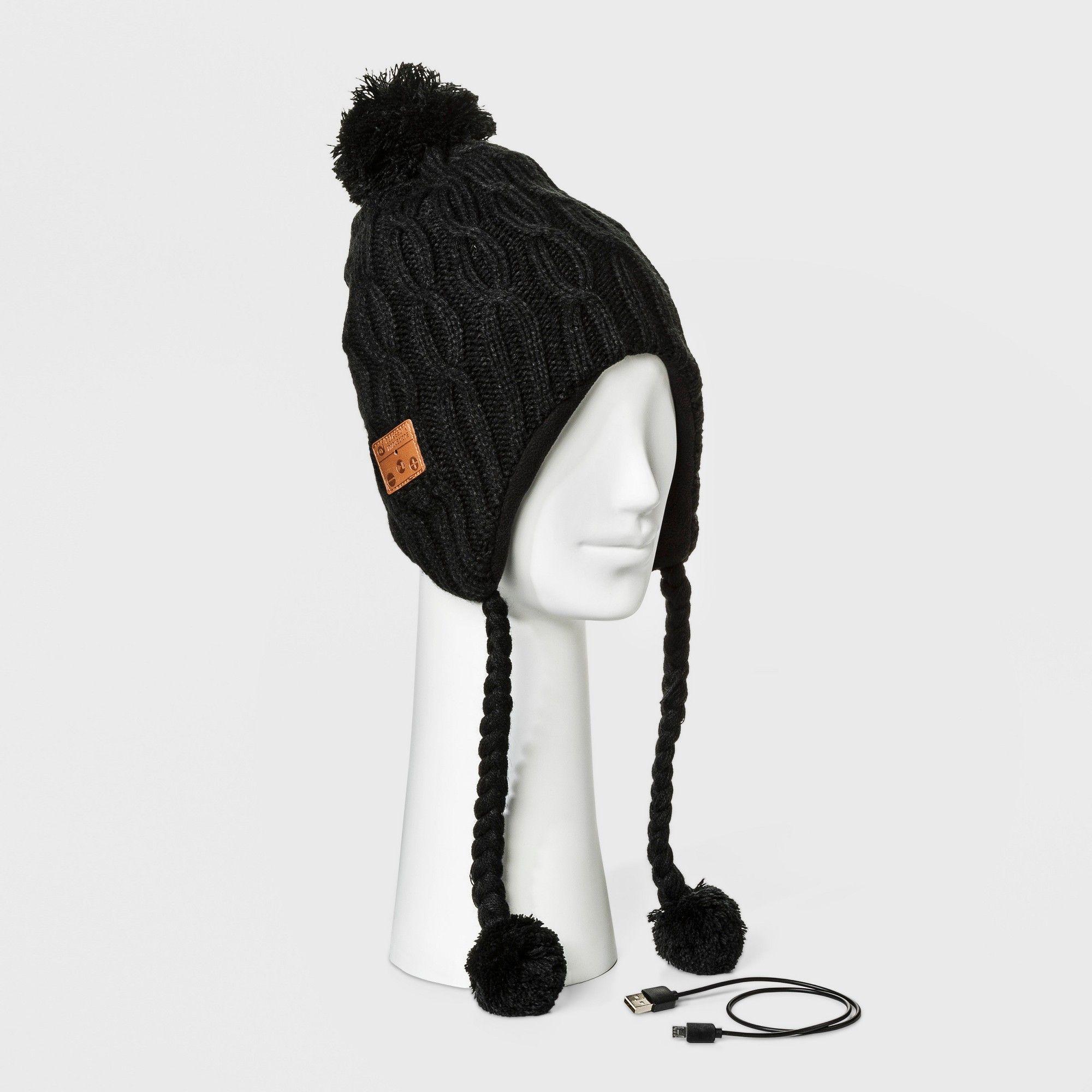 Accessory Innovation Bluetooth Fleece Line Laplander Beanie - Black ... bf83564b9ca7