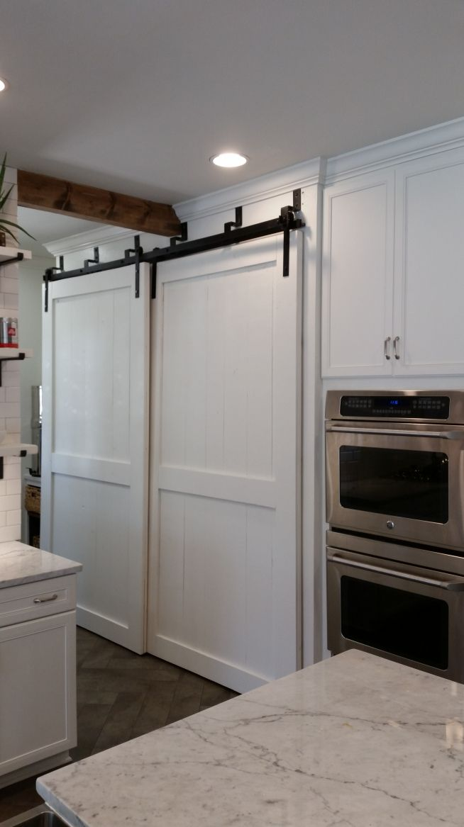 Bypass Barn Door Pantry Kitchen Pinterest Barn Door