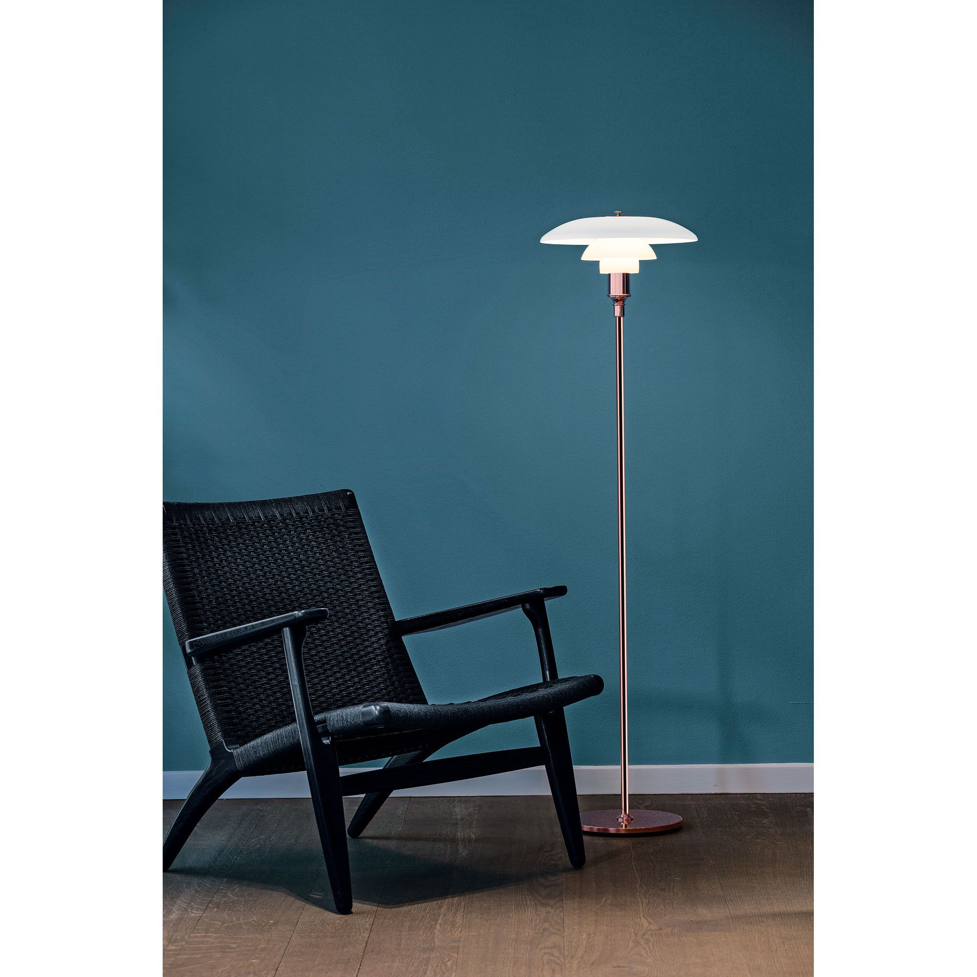 One Of The Most Ground Breaking Light Designs Ph S Three Shade System Is Turning 90 To Ma Scandinavian Floor Lamps Beautiful Floor Lamps Copper Floor Lamp