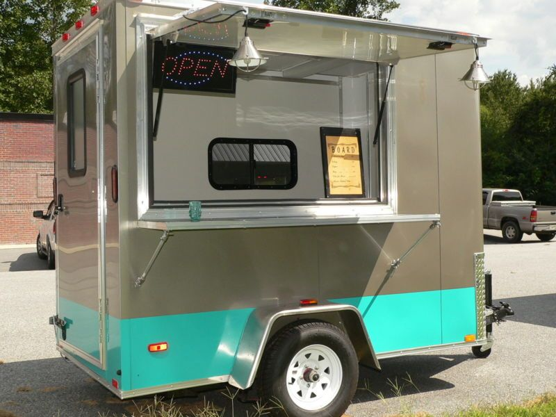 Food Trucks For Sale Near Me >> 5 X 8 Retro Mobile Food Truck Trailer Turn Key Business For Sale