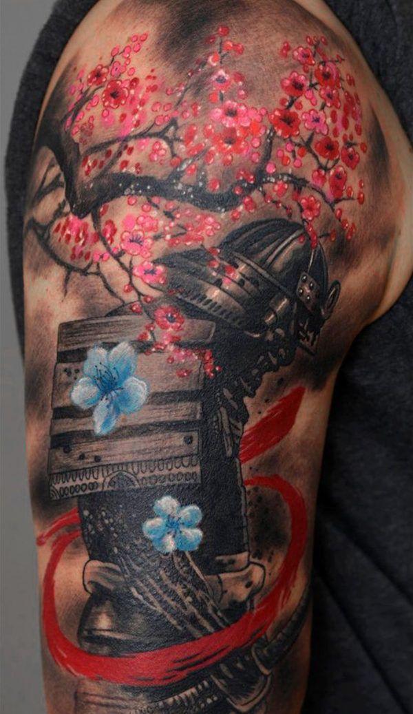 Japanese Sakura Tattoo On Shoulder Tattoo Ideas