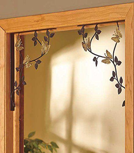 Charming Set Of 2 Butterfly Leaves Window Door Corners Bracket Metal Decor Knl Store  Http:/