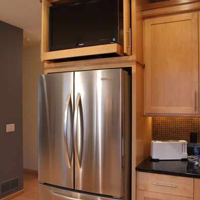 Tv For Kitchen Counter Design Pictures Remodel Decor And Ideas Tv In Kitchen Kitchen Kitchen Design