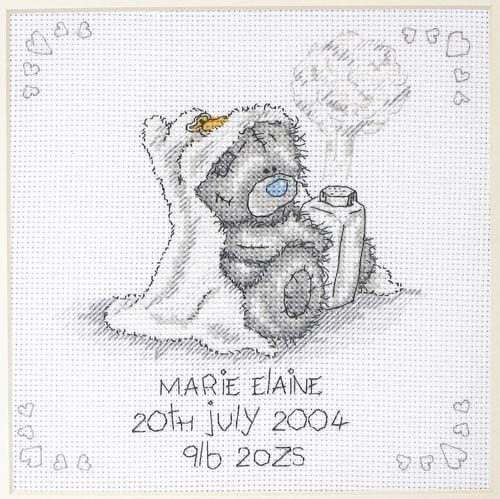 Little bear with a book on the moon cross stitch pattern Chapter one I am born Baby boy nursery sampler Baby quotes Child room decor DIY