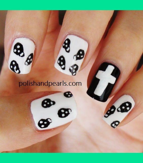 skull nails | Skull Nails | MissJenFabulous F.'s ...