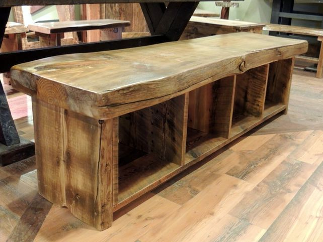 48 Quot Shoe Rack Bench With Boot Cubby Two Tone Cloudburst Rustic Shoe Rack Shoe Rack Bench Diy Furniture