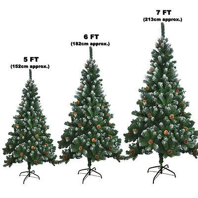#Large Artificial Christmas Tree Snow #cones #realistic Xmas Trees 5ft 6ft  7ft,