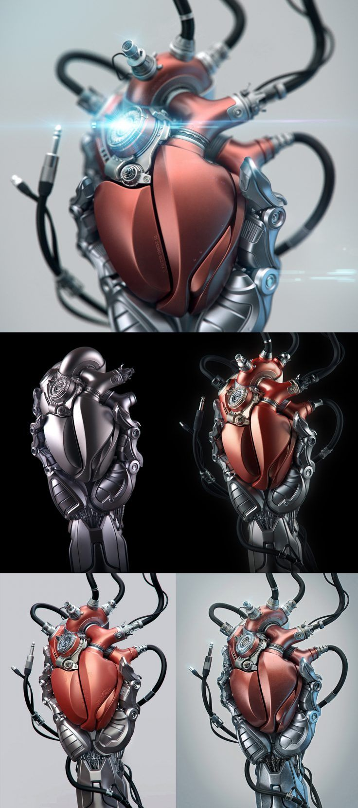 Heart By Aleksandr Kuskov In 2019 Biomechanical Tattoo