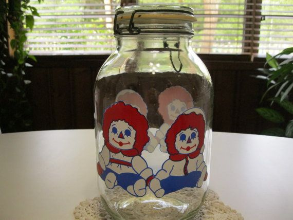 Raggedy Ann Canister  Vintage Raggedy Ann and by ShariansPlace, $18.50