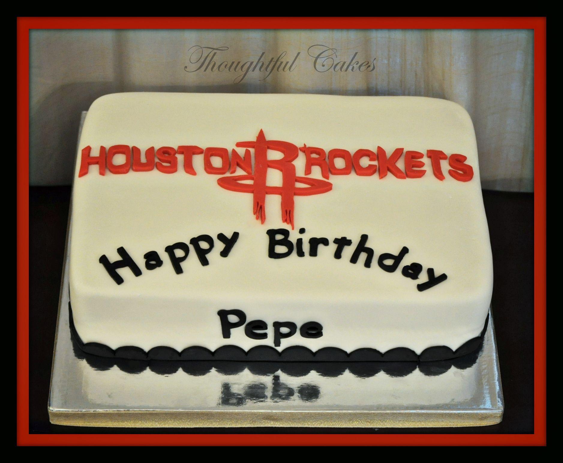 Houston Rockets Cake Thoughtful Cakes